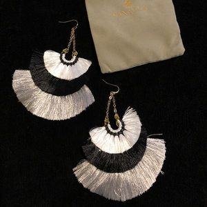 Panacea Fringe Chandelier Earrings